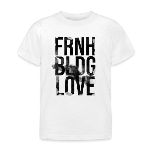 Französische Bulldogge Liebe wasserfarben - Kinder T-Shirt