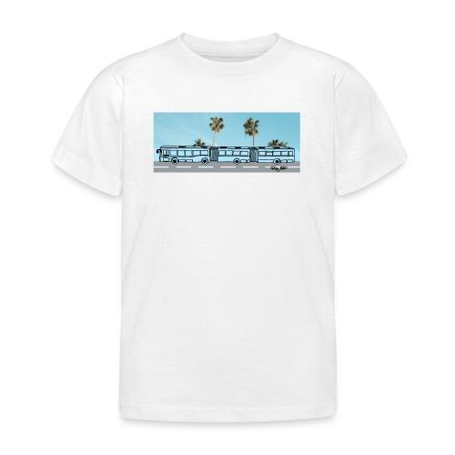 Doppelgelenkbus color palmen - Kinder T-Shirt