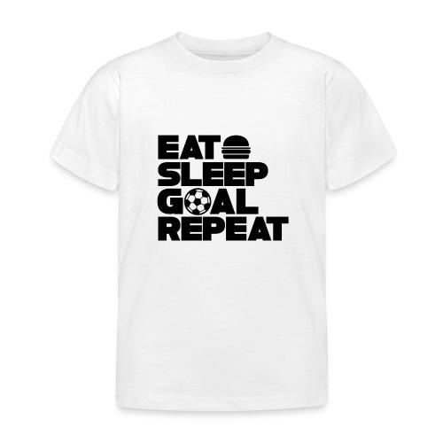 Eat Sleep Goal Repeat - Kids' T-Shirt