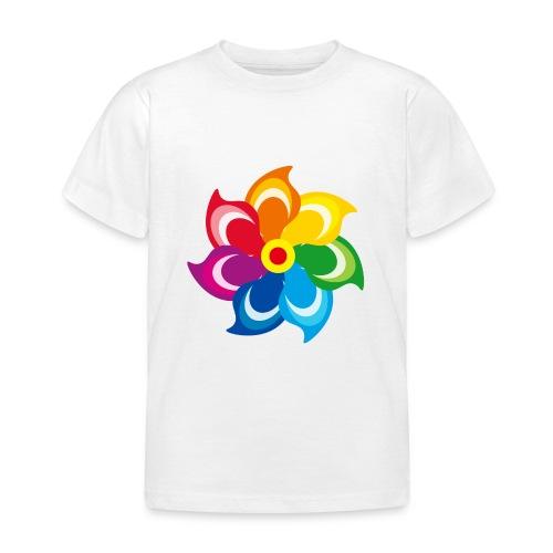 bunte Windmühle Kinderspielzeug Regenbogen Sommer - Kids' T-Shirt