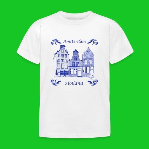 Holland Grachtenpanden Delfts Blauw - Kinderen T-shirt