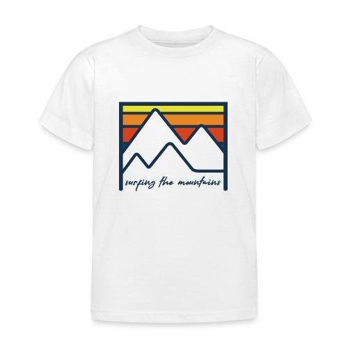 surfing the mountains - dégradé orange - T-shirt Enfant