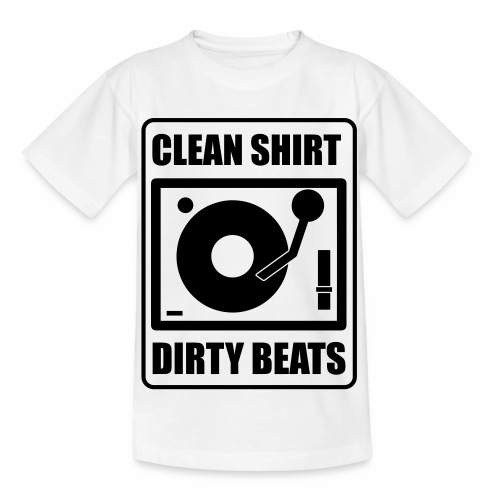 Clean Shirt Dirty Beats - Kinderen T-shirt