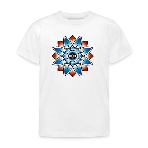 Psychedelisches Mandala mit Auge - Kinder T-Shirt