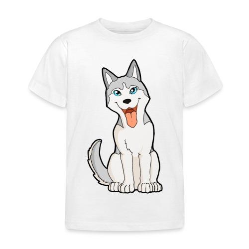 Husky grigio occhi azzurri - Maglietta per bambini