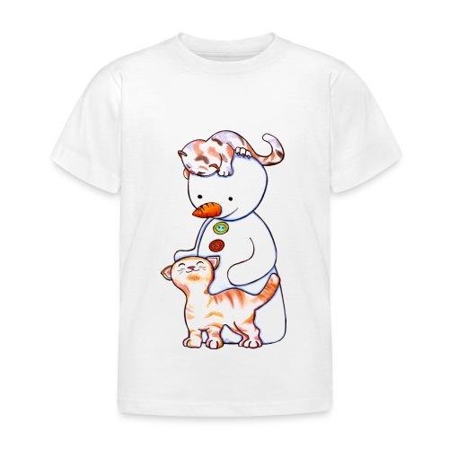 Deux petits chats et Jou le bonhomme de neige - T-shirt Enfant
