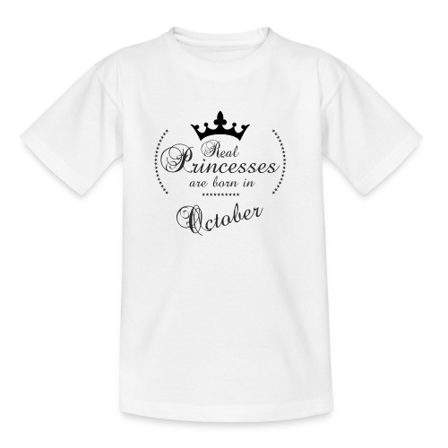 Real Princesses was born in October - Kinder T-Shirt
