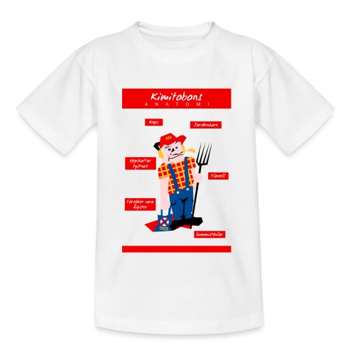 Kimitobons anatomi - Lasten t-paita