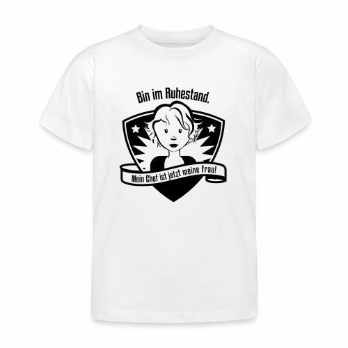 Ruhestand Comic - Kinder T-Shirt