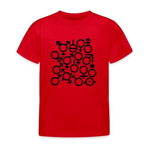 Multi Gender B/W - Kinderen T-shirt