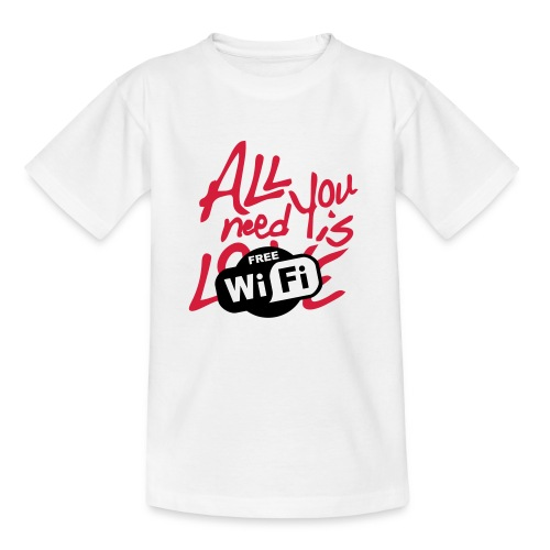 all you need is free WiFi - Camiseta niño