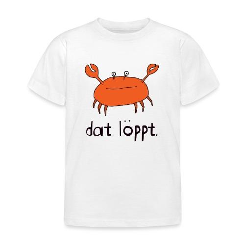 Ostfriesland Fun - Dat Löppt Strandkrabbe - Kinder T-Shirt