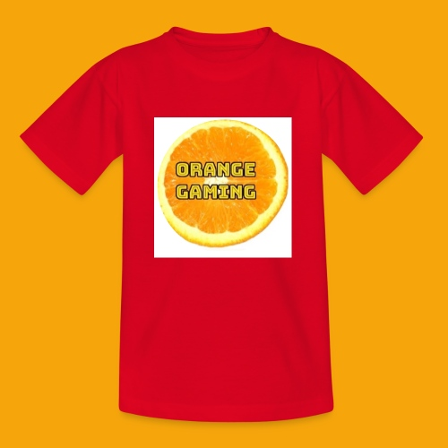 Orange_Logo_White - Kids' T-Shirt