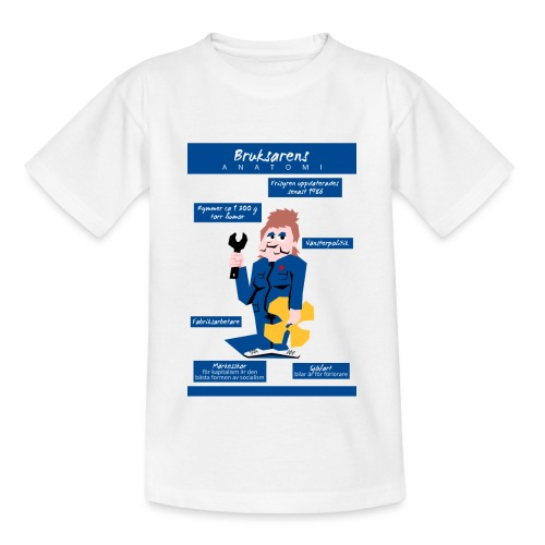 Bruksarens anatomi - Lasten t-paita