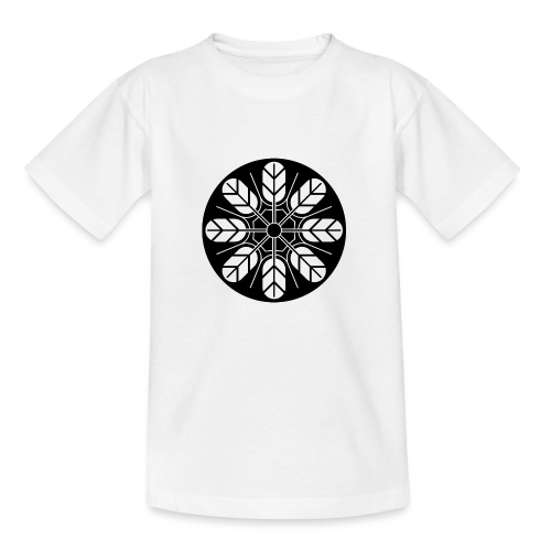 Inoue clan kamon in black - Kids' T-Shirt