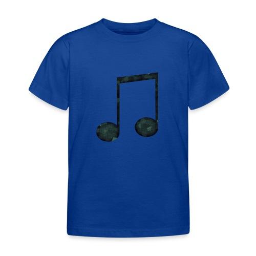 Low Poly Geometric Music Note - Kids' T-Shirt