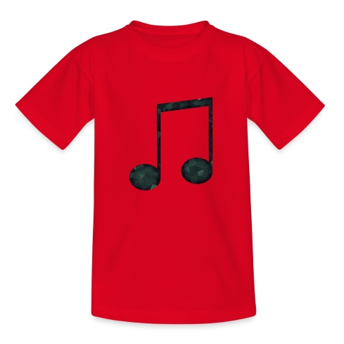 Low Poly Geometric Music Note - Kids' T-Shirt