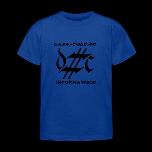 Dark-Code Black Gothic Logo - T-shirt Enfant