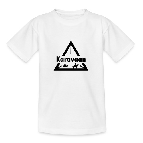 Karavaan Black (High Res) - Kinderen T-shirt