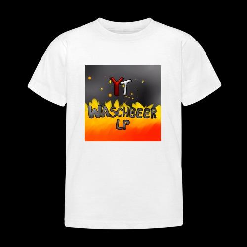 Waschbeer Design 2# Mit Flammen - Kinder T-Shirt