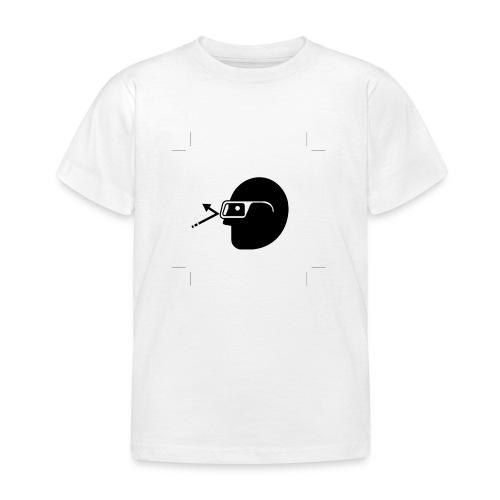 Kopf mit Brille - Kinder T-Shirt