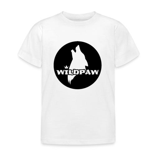 Wildpaw logo circular transparent mono - Kids' T-Shirt
