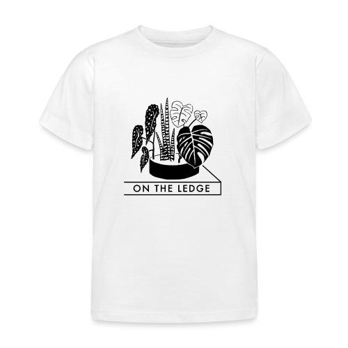On The Ledge black and white logo - Kids' T-Shirt