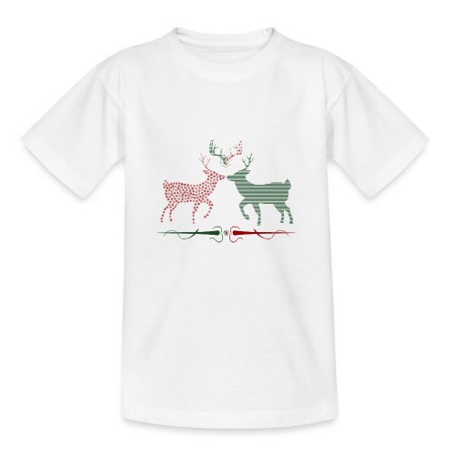 Christmas deer - Kids' T-Shirt