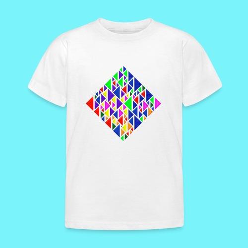 A square school of triangular coloured fish - Kids' T-Shirt