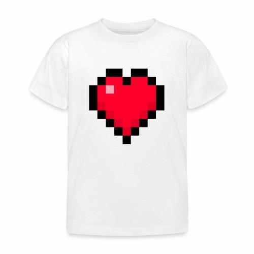 Cuore di pixel - Maglietta per bambini