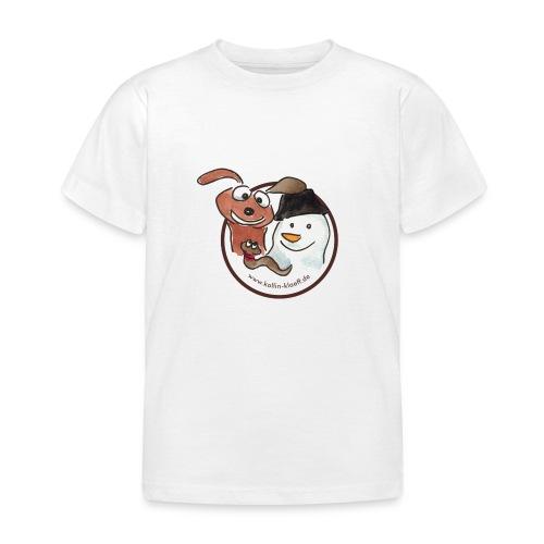 Kollin Kläff - Hund, Schneemann und Regenwurm - Kinder T-Shirt