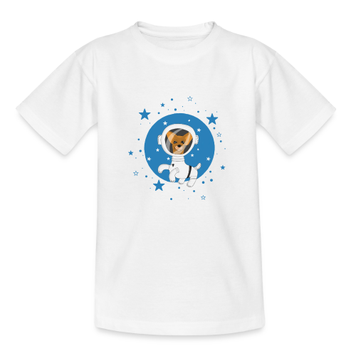 Kleiner Hund im Weltall - Kinder T-Shirt