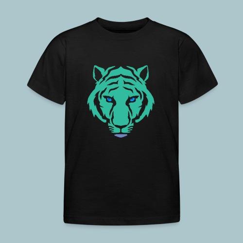 tijger blauw - Kinderen T-shirt