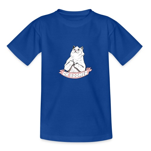 OK Boomer Cat Meme - Kids' T-Shirt