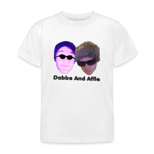 Dabbe And Affie Svart Text - T-shirt barn