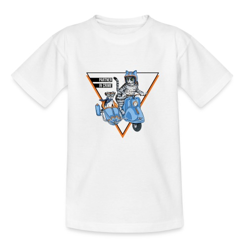 Partner in Crime - Cat & Dog - Kinder T-Shirt