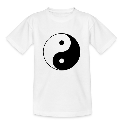800px Yin yang svg 1 - Kinder T-Shirt