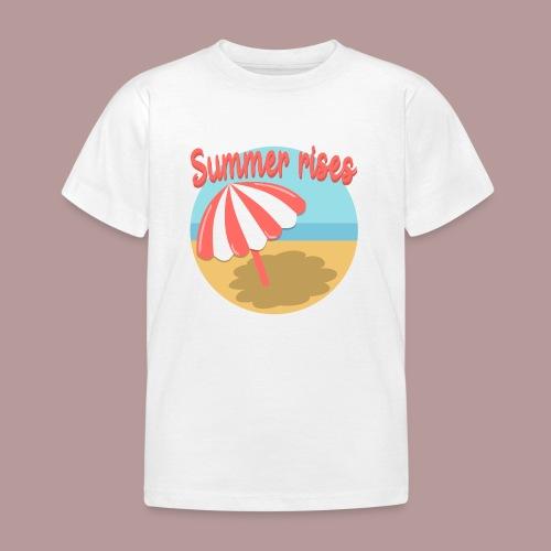 Summer rises parasol sur une plage / mer ciel été - T-shirt Enfant