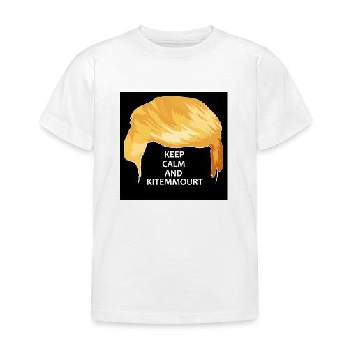 Keep Calm And Kitemmuort Capelli Trump - Maglietta per bambini