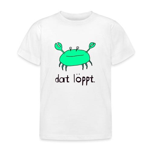 Ostfriesland FUN Shirt - Dat Löppt Strandkrabbe - Kinder T-Shirt