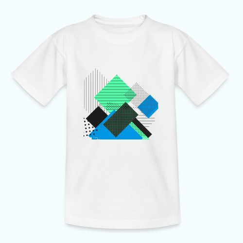 Abstract rectangles pastel - Kids' T-Shirt