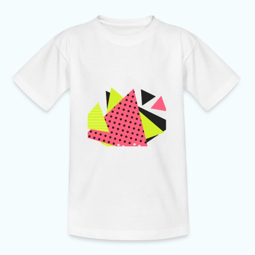 Neon geometry shapes - Kids' T-Shirt