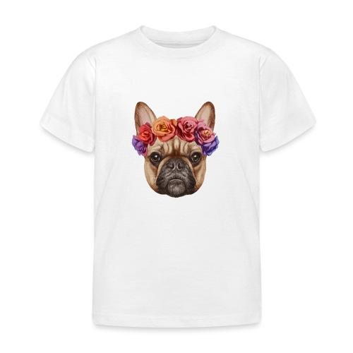 Buldog w Kwiatkach - Koszulka dziecięca