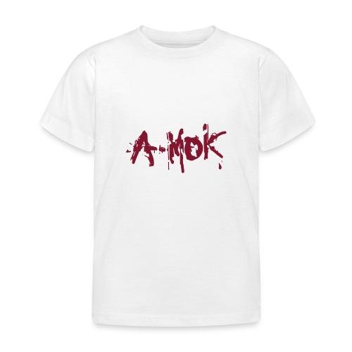 A-MOK Splash Logo Rot - Kinder T-Shirt