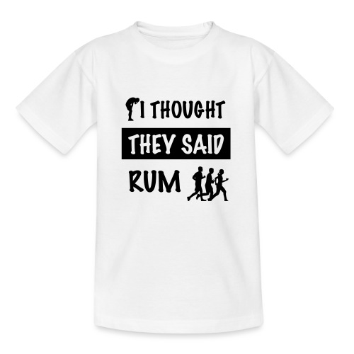 i thought they said rum - Kinderen T-shirt