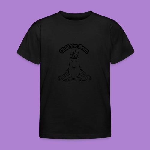 Chill the Bean black outline - Kids' T-Shirt