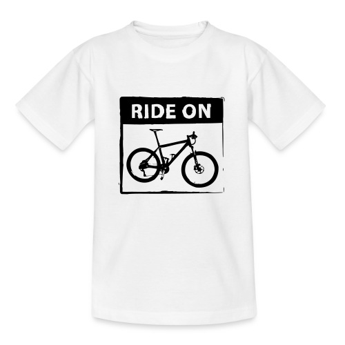 Ride On MTB 1 Color - Kinder T-Shirt