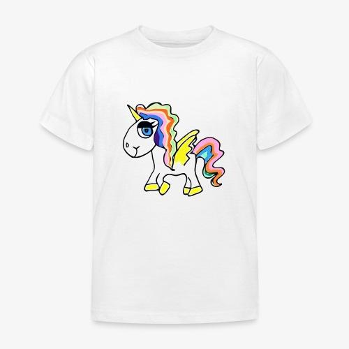Buntes lässiges Einhorn - Kinder T-Shirt