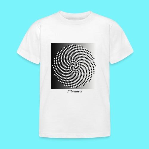 Fibonacci spiral pattern in black and white - Kids' T-Shirt