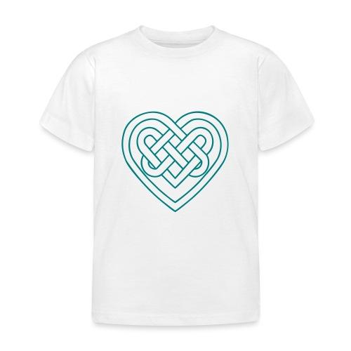 Keltisches Herz, Endlos Knoten, Liebe & Treue - Kinder T-Shirt